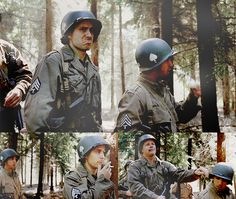 Top 5 Band of Brothers quotes: #4 (walking through a forest)  Perconte: Hey, George! Luz: Yeah. Perconte: Kind of remind of you Bastogne? Luz: Yeah, now that you mention it. Except, of course, there's no snow, we got warm grub in our bellies and the trees aren't fucking exploding from Kraut artillery, but yeah, Frank, other than that, it's a lot like Bastogne. Perconte: Right? Luz: Bull, smack him for me, please? (Bull complies) Thank you.