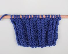How to knit twisted Rib Stitch | We Are Knitters Blog