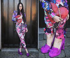 Elizabeth Jin - Asos Floral Print Bomber Jacket, Moschino Vintage ...