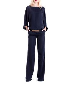 Love this Blue Belted Jumpsuit on #zulily! #zulilyfinds