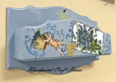 Wood painting, Hand made, Decoupage