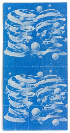 Escher - this photographic print depicts a full sheet that was originally issued circa 19(?).  http://www.blotterbarn.com/