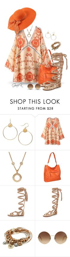 """""""Boho Floral Tunic Dress"""" by gracekathryn ❤ liked on Polyvore featuring Nadri, Chanel, Nino Bossi Handbags, Sigerson Morrison, Lizzy James, Victoria Beckham, women and womensFashion"""