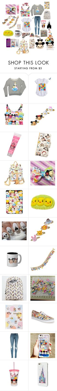 """Tsum Tsum Look✨"" by macaulere ❤ liked on Polyvore featuring Disney, Dooney & Bourke, The Bradford Exchange and Vans"