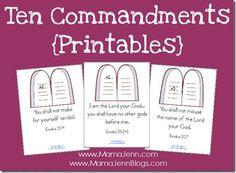 Ten Commandments Printables & Copy Work