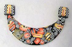 Polymer Clay Bib Necklace    #Polymer Clay  #polymer clay jewelry www.etsy.com/shop/MaryClaires