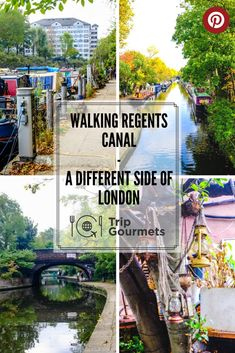 You're in London but want to see something other than the city? You don't want to spend too much money either? Then why not walking Regents Canal?! You can see a different side of London (England).