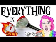 ☆ Learn EVERYTHING in 5 minutes basic Fan Brush Techniques ☆ #1  | TheArtSherpa