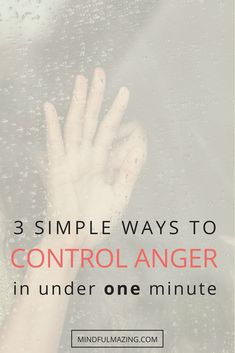 There are some situations that cause even the calmest, nicest people to become angry, frustrated and furious. We all know the feeling. How to control anger? These are 3 powerful and simple ways to control the onset of anger, in under one minute! Panic Attack Treatment, Anxiety Treatment, Anxiety Relief, Stress Relief, How To Control Emotions, Anger Control, How To Grow Muscle, How To Become Happy, Mindfulness For Kids