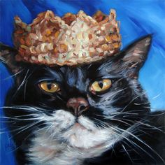 Custom Cat Paintings oil portraits from your by puciPetPortraits