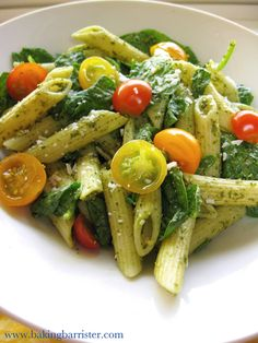 The Baking Barrister: Mint Basil Pesto Pasta Salad