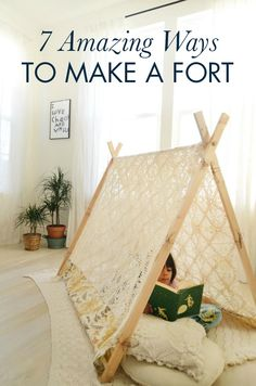 Calling all daydreamers and play pretenders! Gather up your pillows, cushions, and blankets to spend an afternoon building a grand fortress with your kids. These 7 Amazing Ways to Make a Fort from Hello Wonderful are a fantastic way to spend a cold winter day fostering your little one's imagination.