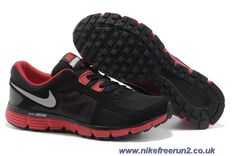 meet 084f8 74ed4 2013 New Mens Nike Dual Fusion ST 2 Black Sport Red Dark Grey Metallic Dark  Grey Shoes The Most Lightweight Shoes