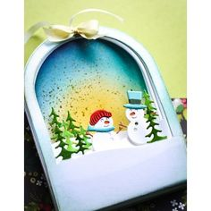 Merry Christmas, Christmas Scenes, Xmas, Memories Box, Big Shot, Metal Crafts, Paper Crafts, Winter Schnee, Memory Box Cards