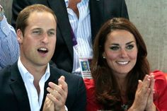 Will and Kate watching swimming
