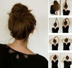 messy bun popular hair toturials3  -girl hair styles