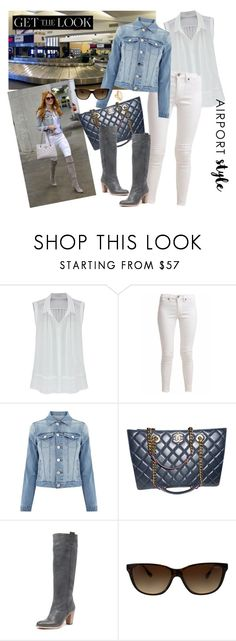 """Get the Look: Airport Style - Casual Trend"" by selene-cinzia ❤ liked on Polyvore featuring JFK, Cheap Monday, Oasis, Chanel, Vogue Eyewear, Kate Spade, GetTheLook and airportstyle"