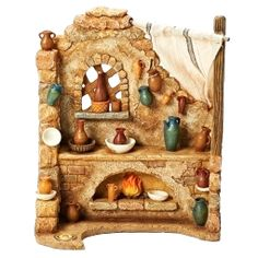 Inch Scale - Pottery Shop by Fontanini Fontanini Nativity, Tumbler Stickers, Nativity Stable, Christmas Nativity Scene, Nativity Scenes, Pottery Shop, Porcelain Clay, Miniture Things, Clay Projects