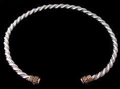 """Cush Torc   Cush County, Limerick, Ireland   Insular Norse  9th - 10th Century  Individually Hand-forged  Torc Diameter is approx. 5/16"""""""