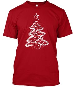 Winter Time Deep Red T-Shirt Front
