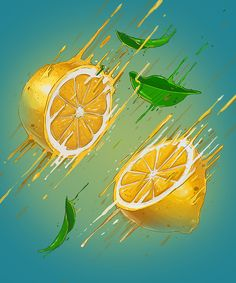 These illustrations are SO COOL!  VITAMIN BOMB Illustrations by Georgi Dimitrov - Erase, via Behance