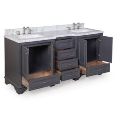 Charcoal gray traditional-style Double Bathroom Vanity Set