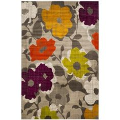 Shop for Safavieh Porcello Contemporary Floral Grey/ Yellow Rug (6' x 9'). Get free shipping at Overstock.com - Your Online Home Decor Outlet Store! Get 5% in rewards with Club O!