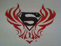 My neck tattoo!!(: Superman Obsession(: