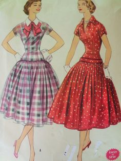 Vintage McCall's 3149 Sewing Pattern, 1950s Dress Pattern, Wide Circle Skirt, Bust 33, 1950s Sewing Pattern, Fitted Bodice, Vintage Sewing