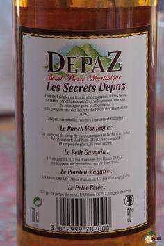 Rhum Depaz (étiquette) Avec un manque d'R ;-))