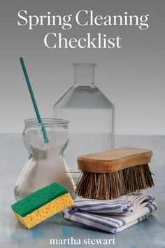 This is Martha's ultimate spring-cleaning checklist that covers the basics of home cleaning and other cleaning hacks to help you save time and effort. Spring Cleaning Checklist, Deep Cleaning Tips, House Cleaning Tips, Cleaning Hacks, Cleaning Schedules, Cleaning Supplies, All You Need Is, Hardwood Floor Cleaner, Clean Baking Pans