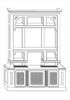 Projekt wbudowanego kredensu do jadalni, z miejscem na TV i klimatyzatory