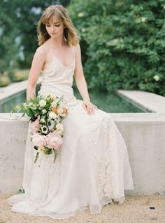 Tendance Robe De Mariée 2017/ 2018 : Lace and chiffon dress: www.stylemepretty... | Photography: NBarrett - nbarrettp...   https://flashmode.be/tendance-robe-de-mariee-2017-2018-lace-and-chiffon-dress-www-stylemepretty-photography-nbarrett-nbarrettp/  #RobeMariage