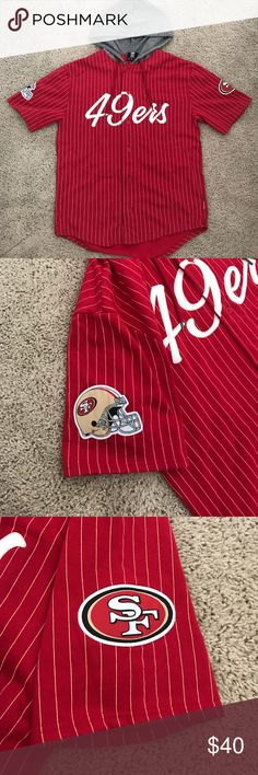 NFL Team store 49ers button jersey•• men's size:M Brand new button up jersey•• never worn•• excellent condition•• Shirts