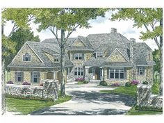 """I like this one with some modifications... The basement will be finished, but without a walkout.  There will only be windows on one side of the basement.  We also want to eliminate the extra powder room in the master suite. We also want to modify the exterior, giving it a partial wrap porch and some more """"country style"""" features."""