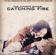 Katniss and Peeta in the snow!!!!!!! Catching Fire!!!!