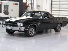 1970 LS5 EL-Camino SS black w/ white stripes