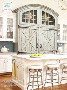 That Is One Well Disguised Fridge Super Cute Barn Door