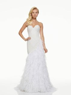 The new Mark Zunino wedding dresses have arrived! Take a look at what the latest Mark Zunino bridal collection has in store for newly engaged brides. Wedding Dress With Feathers, Wrap Wedding Dress, Amazing Wedding Dress, Popular Wedding Dresses, Fall Wedding Dresses, Bridal Dresses, Wedding Gowns, Spring Wedding, Mark Zunino Wedding Dresses