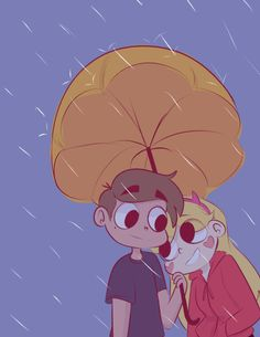 """starydraws:  """" Starco rain, Starco date.  Requested by @burgersandfreedom  """""""