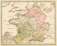 1720 Galia Transalpina in fuas quatuor Provinicas. Narbonensem, Aquitaniam, Lugdunensem et Belgicam descripta…