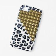 oBaz leopard studded iphone case
