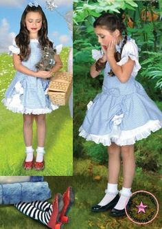 Wizard of Oz Inspired Dorothy Costume Dress for toddlers and girls 3t to size 10…