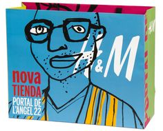 H&M, Barcelona bag, by Javier Mariscal #design #graphic #spain