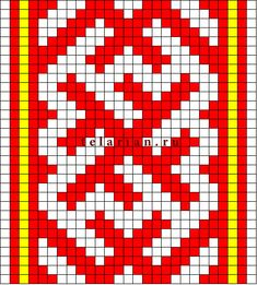 Схема вышивки чернобог