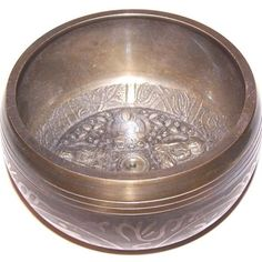 Asian Antiques Antiques 9cm_ Tibet_spiritual_ Buda_reiki Easy And Simple To Handle Set Box Bowl Of Brass