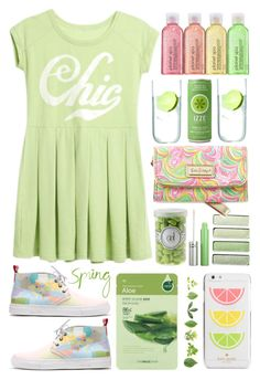 """""""Spring Chic"""" by emcf3548 ❤ liked on Polyvore featuring LSA International, Del Toro, Lilly Pulitzer, The Face Shop and Kate Spade"""