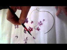꽃 그림 - YouTube Painting Techniques, Fashion Art, Watercolor, Paint Flowers, Chinese Brush, Exercises, Oriental, Calligraphy, School