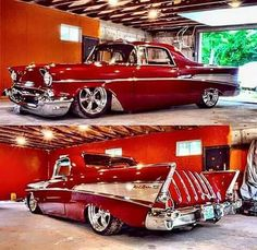 """The Muscle Car History Back in the and the American car manufacturers diversified their automobile lines with high performance vehicles which came to be known as """"Muscle Cars. 1957 Chevrolet, 1957 Chevy Bel Air, Rat Rods, Classic Trucks, Classic Cars, Classic Auto, Mercedes S320, Vintage Cars, Antique Cars"""