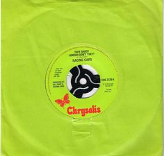 """RACING CARS: THEY SHOOT HORSES DON'T THEY  (2 Track 7"""" Single)"""